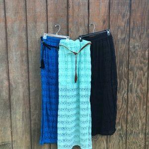 Lace Maxi skirts. 3 bundle. Juniors.